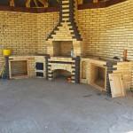 Барбекю с мангалом, казаном и столами