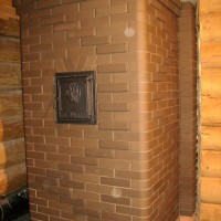 Банная печь с закрытой каменкой и двумя оборотами