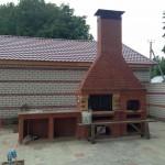 Летняя кухня с русской печью, мойкой, столом