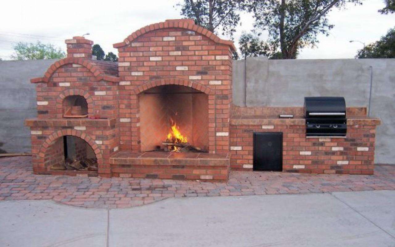 Многофункциональная, компактная уличная печь-мангал 23